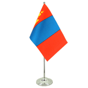 Satin Mongolia Table Flag - 6x9""