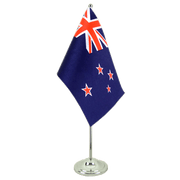 New Zealand - Satin Table Flag 6x9""