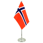 Norway - Satin Table Flag 6x9""
