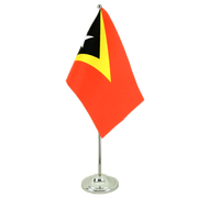 East Timor - Satin Table Flag 6x9""