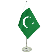 Pakistan - Satin Table Flag 6x9""