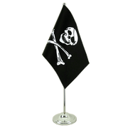 Pirat Skull and Bones - Satin Tischflagge 15 x 22 cm