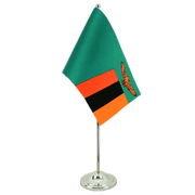 Zambia - Satin Table Flag 6x9""