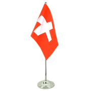 Satin Switzerland Table Flag - 6x9""