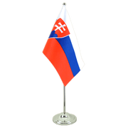 Satin Slovakia Table Flag - 6x9""