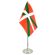 Drapeau de table prestige Pays Basque - 15 x 22 cm