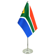 Satin South Africa Table Flag - 6x9""