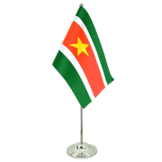 Satin Suriname Table Flag - 6x9""