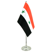 Syria - Satin Table Flag 6x9""
