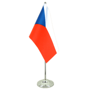 Czech Republic - Satin Table Flag 6x9""