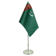 Turkmenistan - Satin Table Flag 6x9""