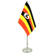 Satin Table Flag Uganda - 6x9""