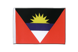Satin Flagge Antigua und Barbuda - 15 x 22 cm
