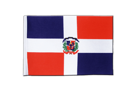 Drapeau en satin République dominicaine - 15 x 22 cm