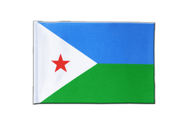 Djibouti - Satin Flag 6x9""