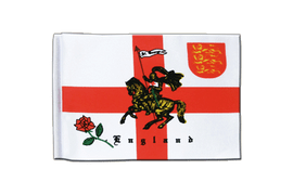 England with knight - Satin Flag 6x9""