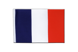 Drapeau en satin France - 15 x 22 cm