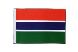 Satin Gambia Flag - 6x9""