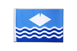 Isle of Wight - Satin Flagge 15 x 22 cm
