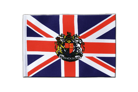Great Britain with crest - Satin Flag 6x9""