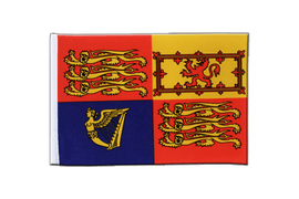 Drapeau en satin Royaume-Uni Royal - 15 x 22 cm