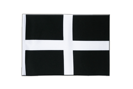 St. Piran Cornwall - Satin Flag 6x9""