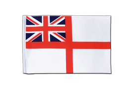 Drapeau en satin Naval Ensign of the White Squadron - 15 x 22 cm