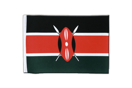 Kenya - Satin Flag 6x9""