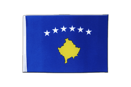 Kosovo - Satin Flag 6x9""