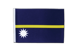 Nauru - Satin Flag 6x9""