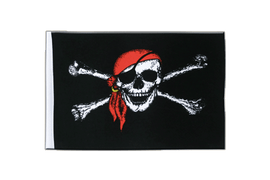Pirate with bandana - Satin Flag 6x9""