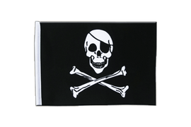 Pirate Skull and Bones - Satin Flag 6x9""