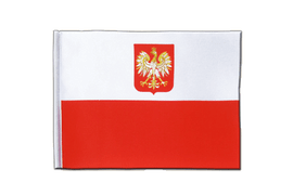 Poland with eagle - Satin Flag 6x9""