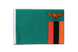 Zambia - Satin Flag 6x9""