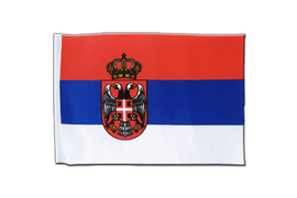 Serbia with crest - Satin Flag 6x9""