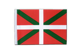 Drapeau en satin Pays Basque - 15 x 22 cm