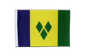 Satin Saint Vincent and the Grenadines Flag - 6x9""