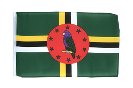 Dominica - 12x18 in Flag