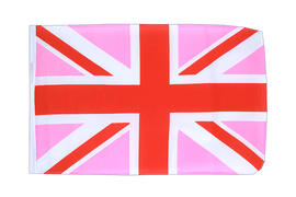 Union Jack pink - 12x18 in Flag