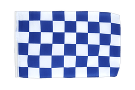 Checkered blue-white - 12x18 in Flag