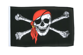 Pirate with bandana - 12x18 in Flag
