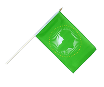 African Union AU - Hand Waving Flag 12x18""