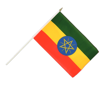 Ethiopia with star - Hand Waving Flag 12x18""