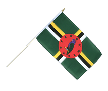 Dominica - Hand Waving Flag 12x18""