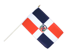 Dominican Republic - Hand Waving Flag 12x18""