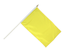 Yellow - Hand Waving Flag 12x18""