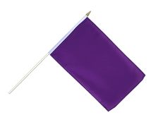 Purple - Hand Waving Flag 12x18""