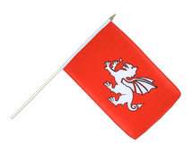 Pendragon new - Hand Waving Flag 12x18""
