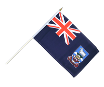 Falkland Islands Hand Waving Flag - 12x18""