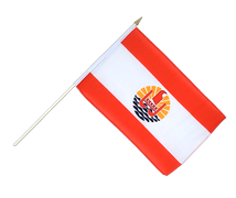 French Polynesia - Hand Waving Flag 12x18""